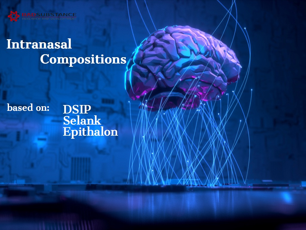 Intranasal composition for the therapy of anxiety, for sleep normalization, regeneration and immunity enhancement. DSIP, Selank, Epithalon